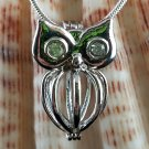 PEARL OWL LOCKET