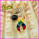 Autism Puzzle Ribbon Dangle Charm