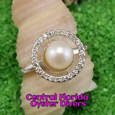 Sparkling Circle Ring 925SS