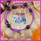 Purple Wire Wrap Dangle Bracelet