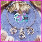 Locket & Pearl Dangle Bracelet Adjustable 2