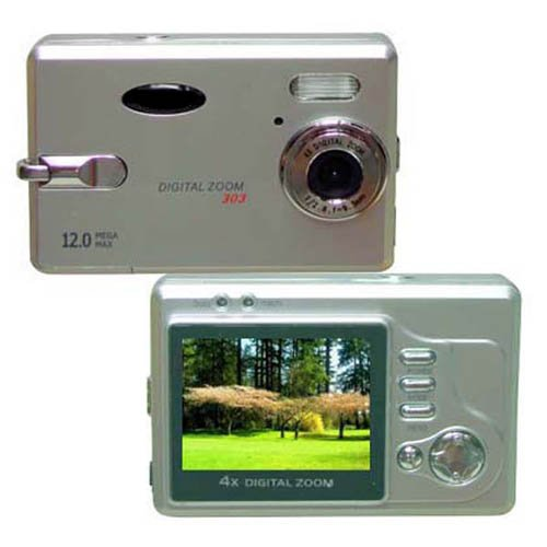 Digital Camera, 12M Pixel, 2.0-inch LCD, 16MB Int.Mem