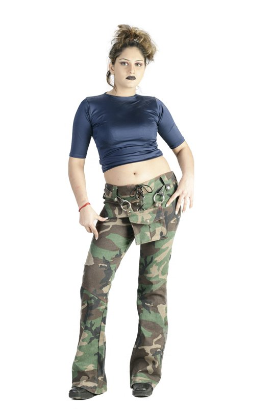 Military Camo Punk Style Pant