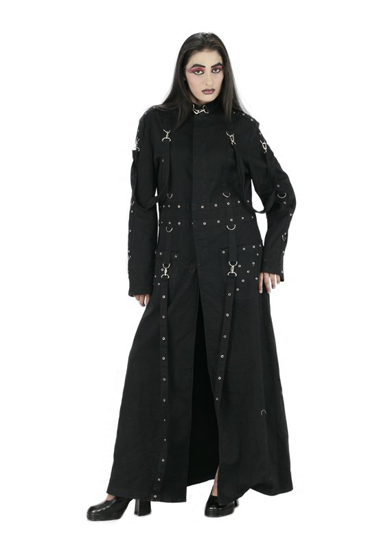 Black Gothic Ladies Long Coat