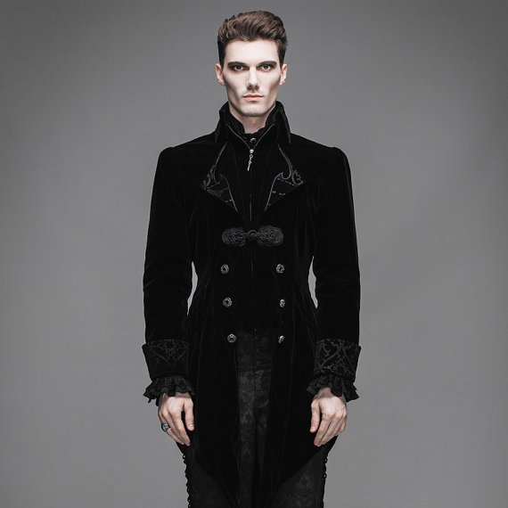 Steampunk Men's Swallow Tail Coat Gothic