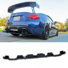 Subaru BRZ Scion FR-S 12-16 Rear Bumper Lower Air Flow Diffuser Spoiler PP Black