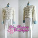Cinderella Prince Charming Kit Uniform Outfit deluxe Middle Ages Costume white