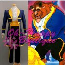 Beauty and the Beast Belle Prince Adam Cosplay Costume Men blue suit halloween costume