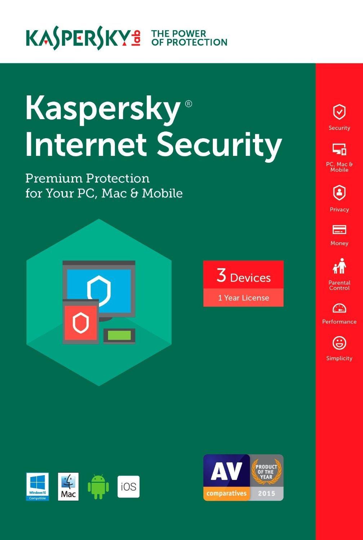 Kaspersky Internet Security Multi-Device 2017 (3-Device, 1-Year)