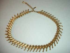 Vintage Monet Brushed Goldtone Choker Necklace