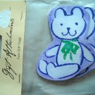 NIP 2 Gift Tags Baby Bear Purple with Green Bow New Baby or Baby Shower