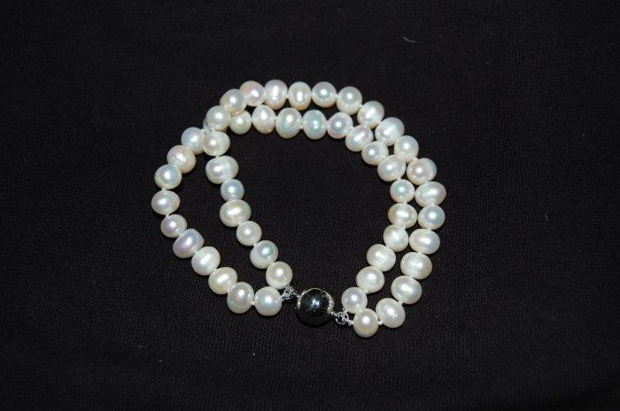 Double Strand White Bracelet