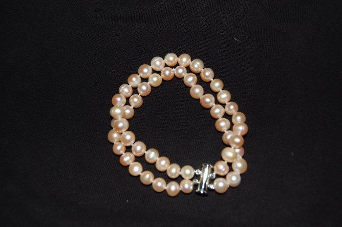 Double Strand Pink Bracelet