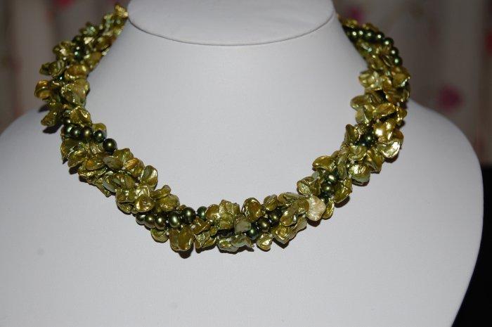 3 strand Green Keshi N1139
