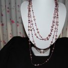 "120"" Purple w/ Bead necklace N1110"