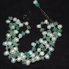 4 strand pearl w/ Jade Bracelet B1122