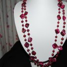 Purple Single Strand pearl with shell N1145
