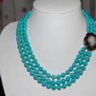 Triple Strand Turquoise Necklace N1083