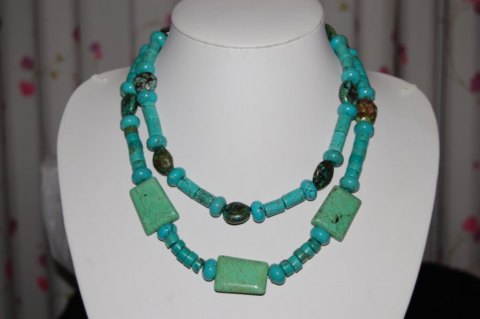 Double Strand Turquoise Necklace N1157