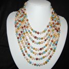 7 Strand Multi color necklace