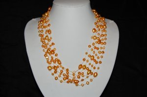 6 strand Gold pearl on large thread N1083