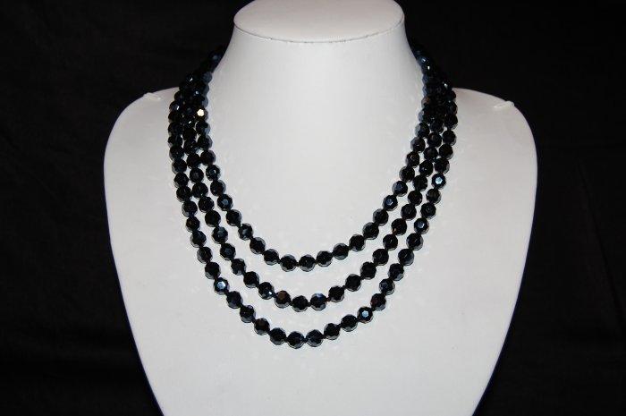 Long Black Beads N1130