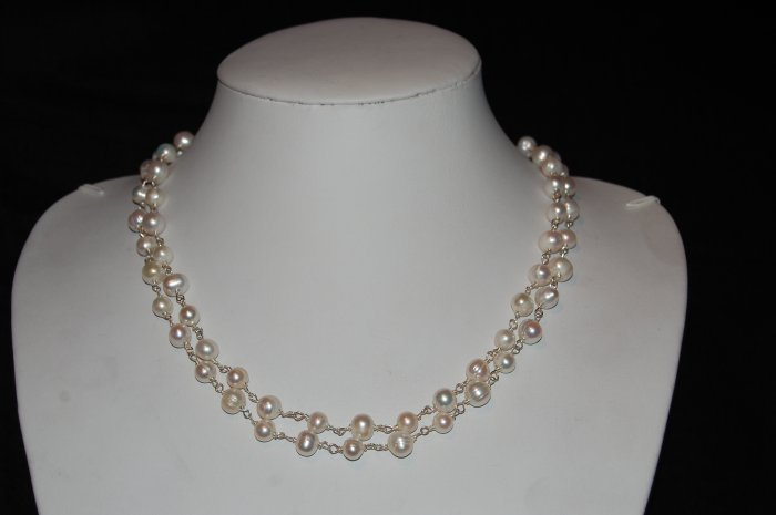 "42"" Long Pearl Necklace N1164"