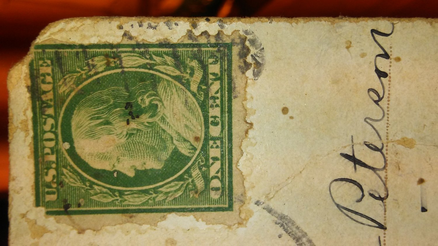Franklin one cent green stamp