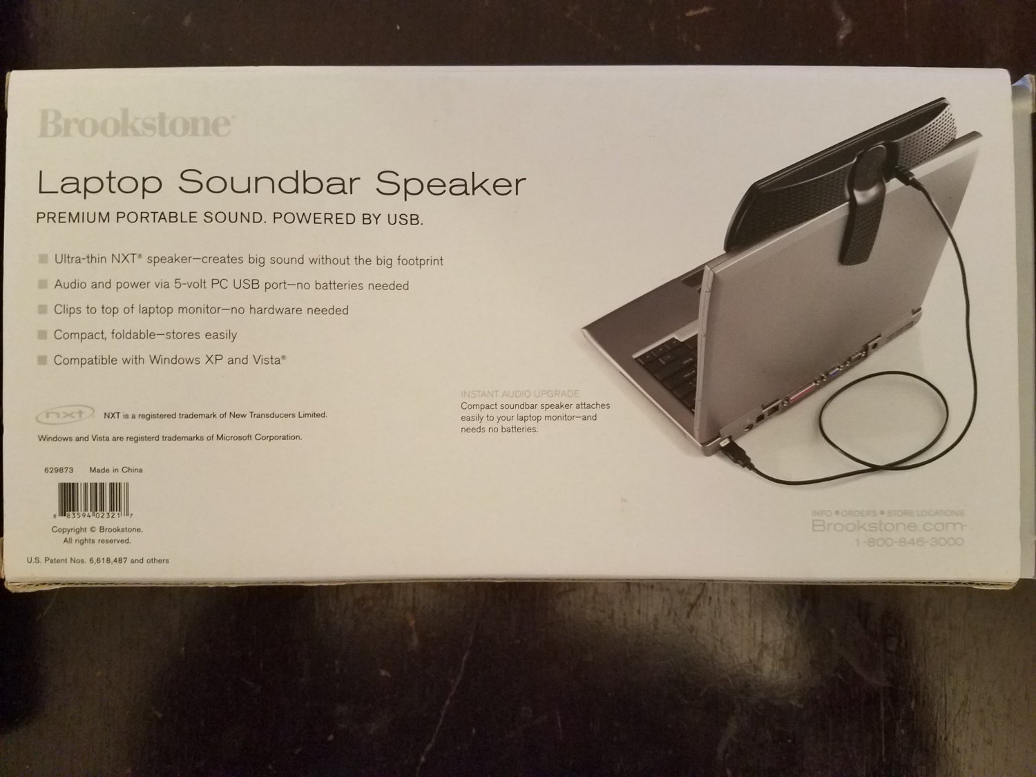 Brookstone Laptop Soundbar Speaker