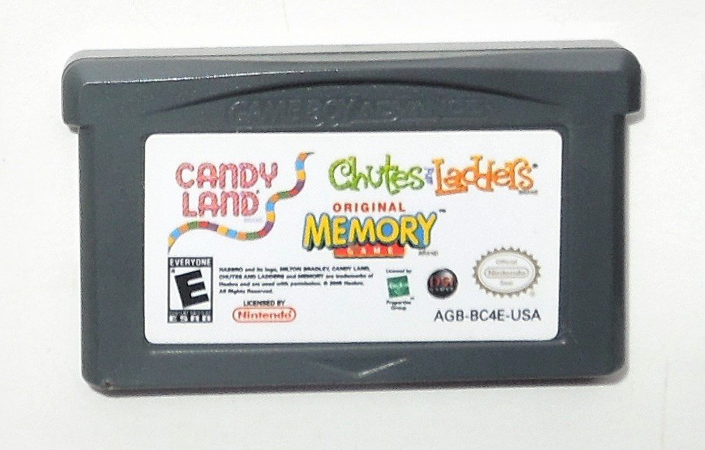 2005 Hasbro Candyland/Chutes & Ladders/ Memory Game For Game Boy Advance & DS Game Only