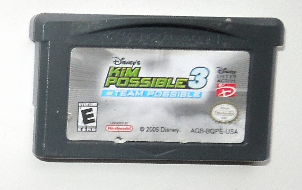 2005 Disney Kim Possible 3 Team Possible For Game Boy Advance & DS Game Only