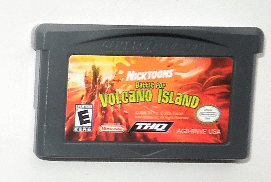 2006 THQ Nicktoons Battle For Volcano Island Nicktoon Game Boy Advance Game