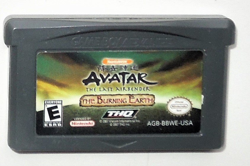 2007 THQ Avatar The Last Airbender The Burning Earth Game Boy Advance Game Only