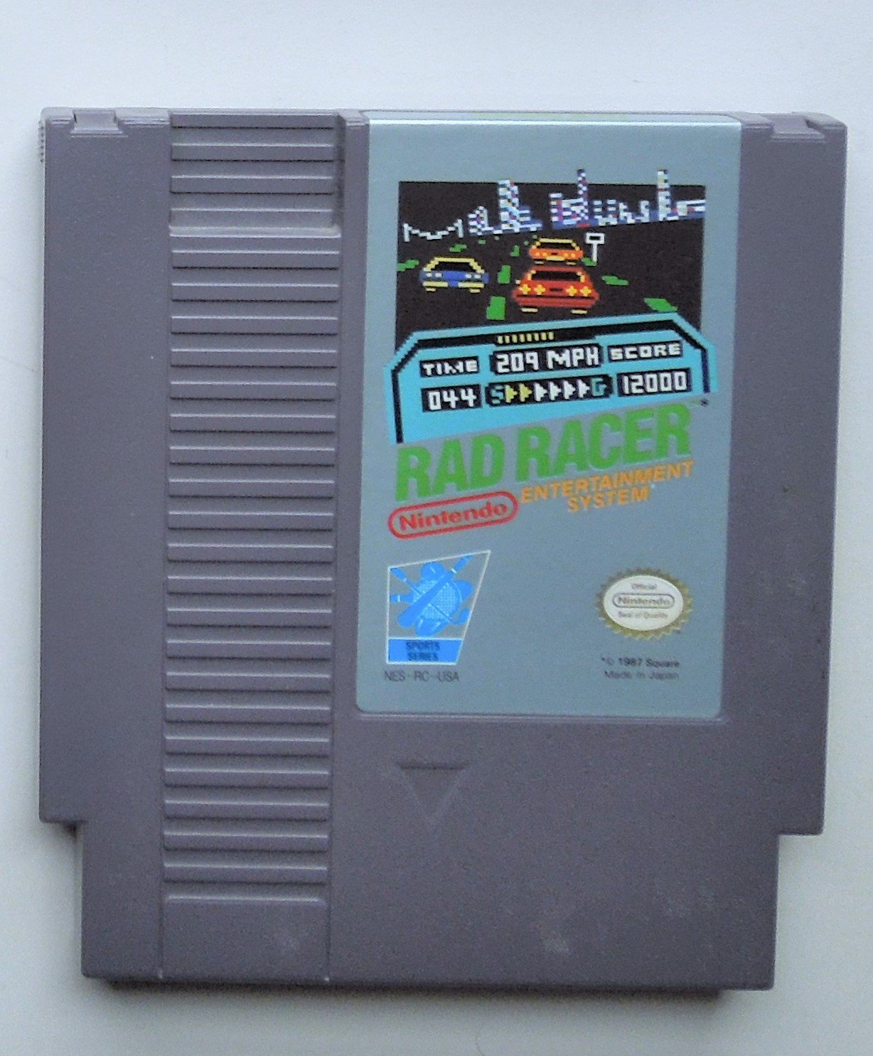 1987 Nintendo Rad Racer For The Classic NES Nintendo Entertainment System