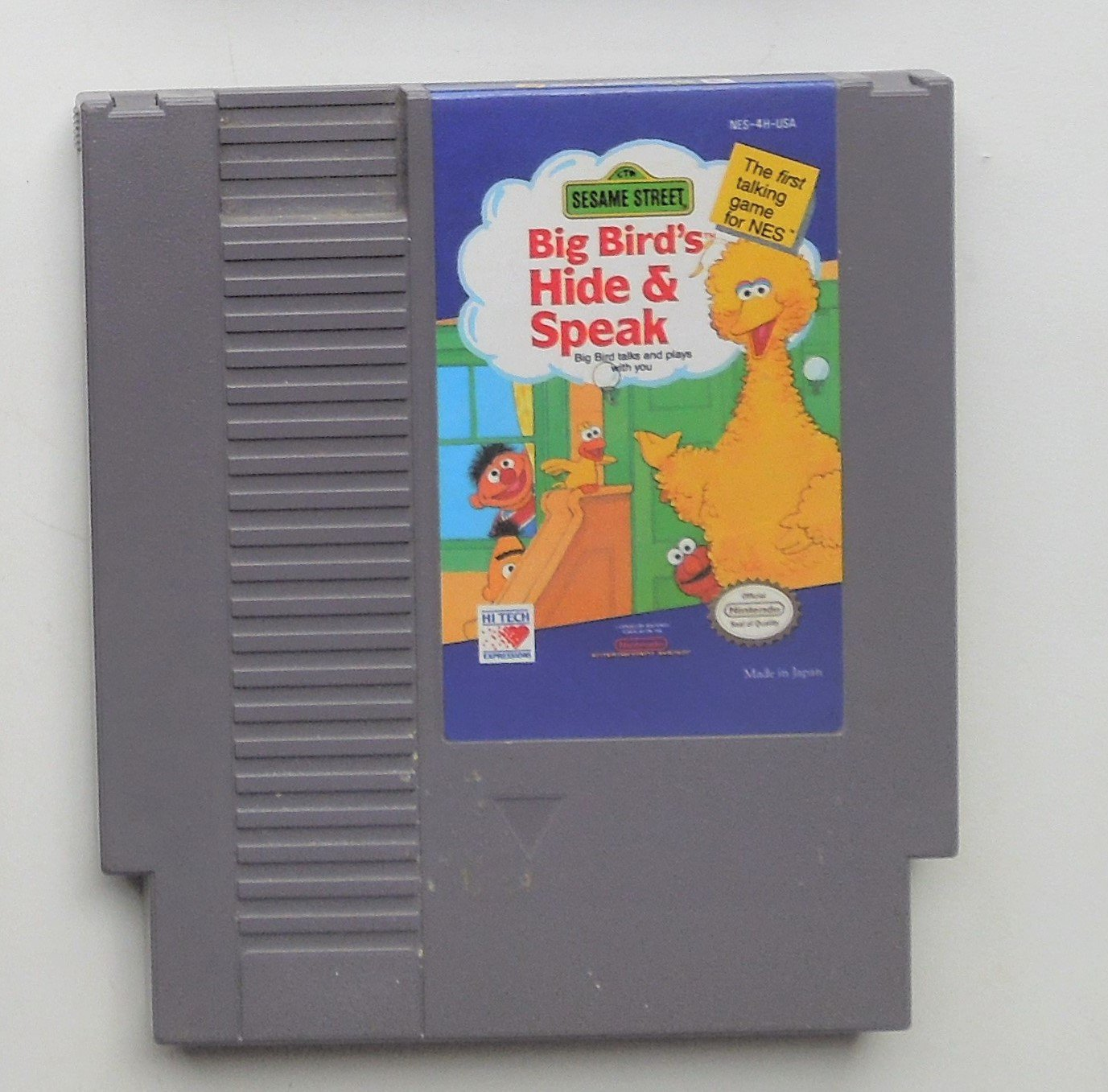 1990 HI Tech Big Bird's Hide & Speak For NES Nintendo Entertainment system