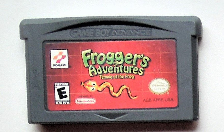 2001 Konami Frogger's Adventure Temple Of The Frog For Game Boy Advance