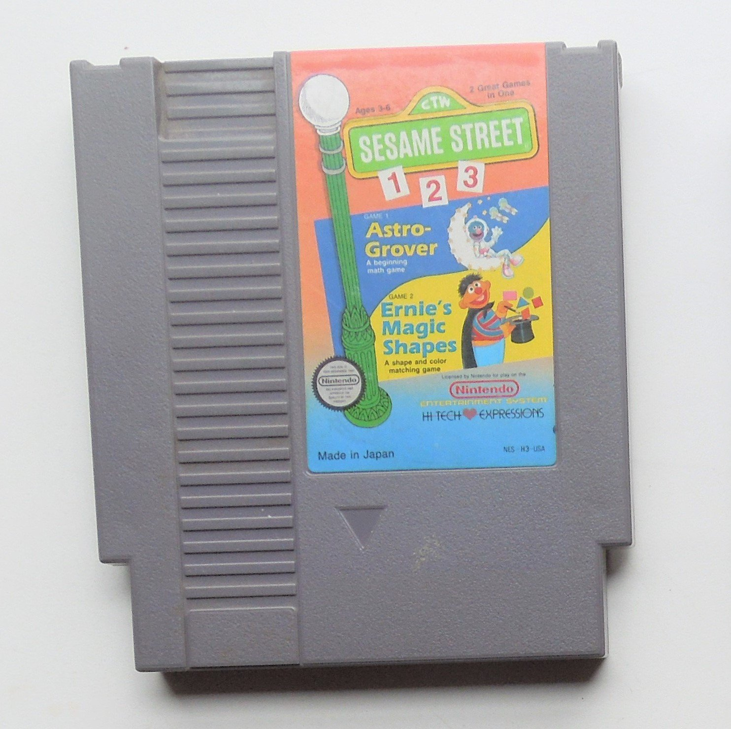 1989 Hi Tech Sesame Street 1 2 3 For Classic NES Nintendo Entertainment System