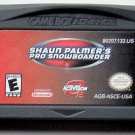 2001 Activision Shaun Palmer's Pro Snowboarder for Game Boy Advance System