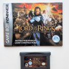 2003 EA Games Lord Of The Rings Return Of The King Game Boy Advance With Manual
