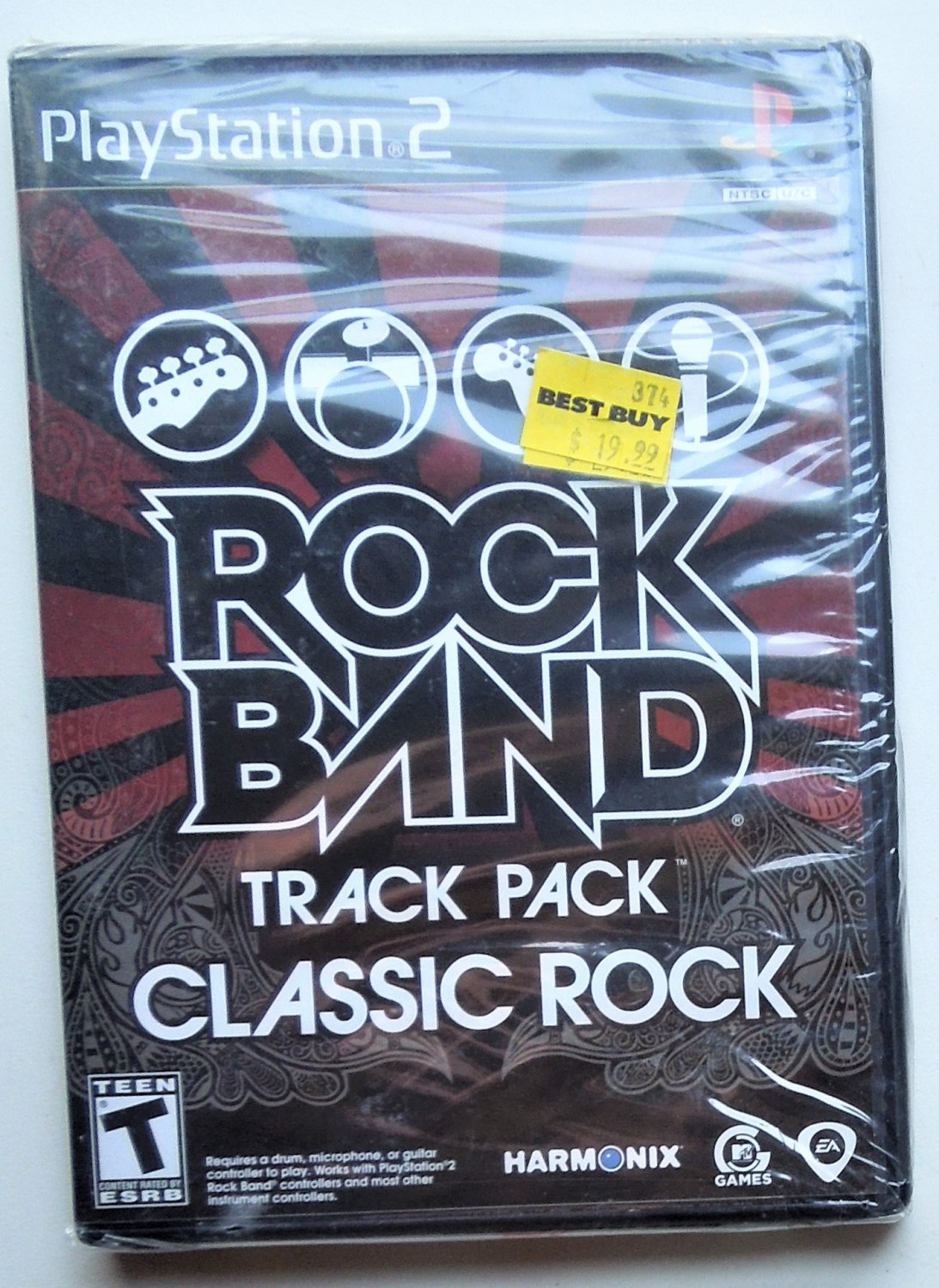 2009 Rock Band Track Pack Classic Rock For Playstation 2 Game Systems MIP