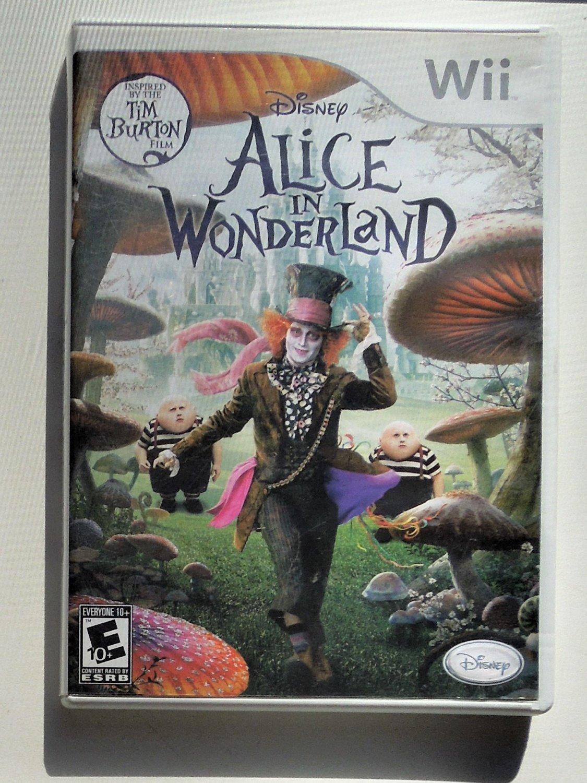 2007 Disney Alice In Wonderland For Nintendo Wii Game Systems