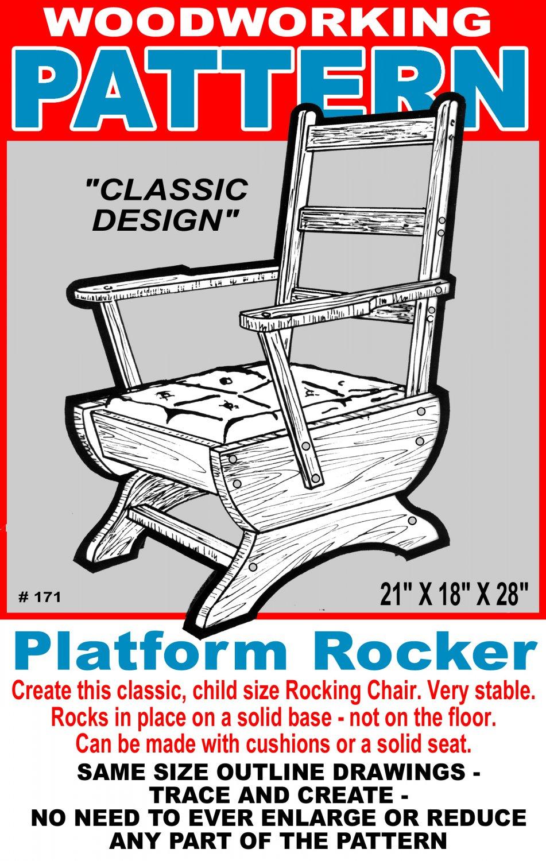 Platform Rocking Chair #171 -  Woodworking / Craft Pattern