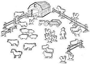 Animal Farm, Play Set #805 - Woodworking / Craft Pattern