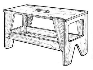 Portable Workbench #919 - Woodworking / Craft Patterns