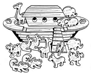 Noah's Ark #803 - Woodworking / Craft Patterns