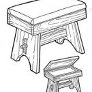 Storage Stool # 175 - Woodworking / Craft Patterns