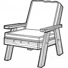 "Back Yard Chair #170 - ""ON SALE"" Woodworking / Craft Patterns"
