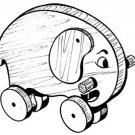 """Elephant Pull or Play Toy   #101 -  """"ON SALE""""  Woodworking / Craft Pattern"""