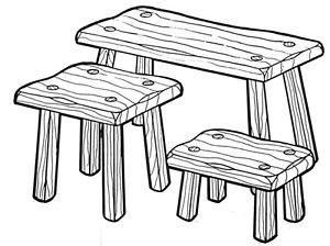 "Fireside Stool Set #173 - ""ON SALE"" Woodworking / Craft Patterns"
