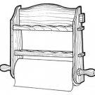 Paper Towel Holder #172 - Woodworking / Craft Pattern